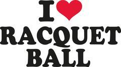 I love racquet ball Stock Illustration