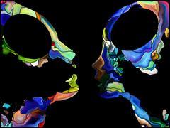 Virtual Self Fragmentation Stock Illustration