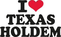 I love texas holdem Stock Illustration