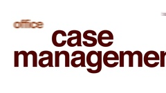 Case management animated word cloud. Stock Footage