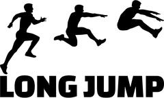 Long Jump sequence with word Stock Illustration
