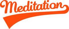 Meditation word Piirros