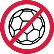 No Handball Ban Stock Illustration