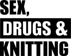 Sex Drugs Knitting Stock Illustration