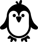 Very cute penguin Stock Illustration