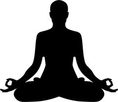 Meditation relaxation silhouette Piirros