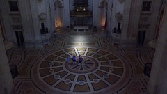 Video of interiors of National Pantheon in Lisbon, Portugal Stock Footage