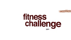 Fitness challenge animated word cloud, text design animation. Arkistovideo