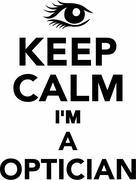 Keep Calm I'm a Optician Stock Illustration