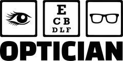 Optician Icons Eye Stock Illustration