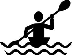 Kayaking pic Stock Illustration