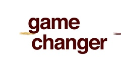 Game changer animated word cloud, text design animation. Stock Footage