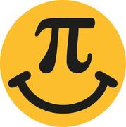 Smiley with pi sign Stock Illustration
