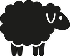 Cute cartoon sheep Stock Illustration