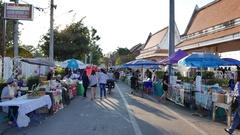 Street food at Nong Khai, Thailand. Stock Footage
