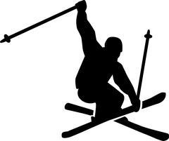 Ski Jumping Freestyle Stock Illustration