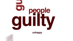 Guilty animated word cloud, text design animation. Stock Footage