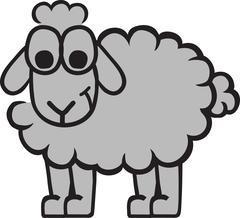 Funny sheep cartoon Stock Illustration
