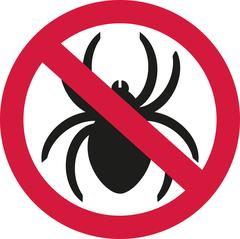 No spiders with ban sign Stock Illustration