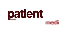 Patient animated word cloud, text design animation. Arkistovideo