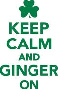 Keep calm and ginger on Stock Illustration