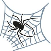 Spider sitting in the web Stock Illustration
