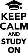 Student Keep Calm and Study on Stock Illustration