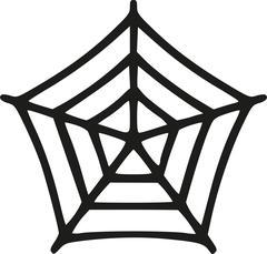 Small handdrawn spider's web Stock Illustration