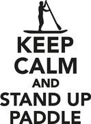 Keep calm and stand up paddle Stock Illustration