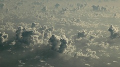 Cloudscape from aircraft - atmospheric composition Stock Footage