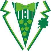 Green St. Patrick's Day suit with bow tie Stock Illustration