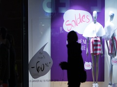 Soldes sales shopping France Stock Footage