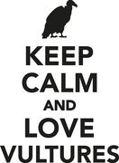 Keep calm and love vultures Stock Illustration