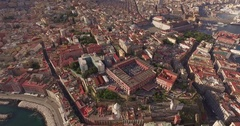 Aerial 4k drone shot above Naples, Italy Stock Footage