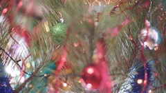 Christmas Tree with Toys Stock Footage