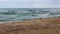 Beach and waves in Salento Stock Footage