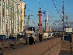 Rostral Column, Saint Petersburg, Russia Stock Footage