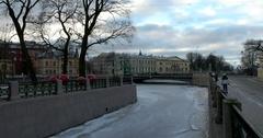 Admiralty canal, bridge, Saint Petersburg, Russia Stock Footage