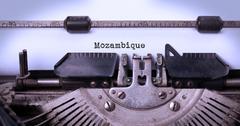 Old typewriter - Mozambique Stock Photos