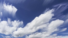 4K fluffy Clouds With Brush Strokes Effect And Blue Sky Time lapse Stock Footage