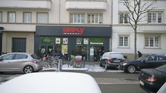 Simply supermarket in France Auchan Stock Footage