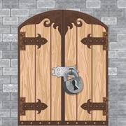 Castle Gate Vector Stock Illustration