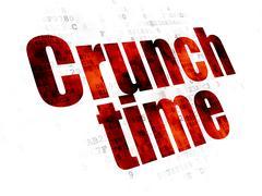 Business concept: Crunch Time on Digital background Stock Illustration