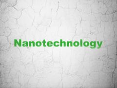 Science concept: Nanotechnology on wall background Stock Illustration