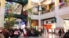 Crowded Shopping Mall On Holidays Time Lapse Stock Footage