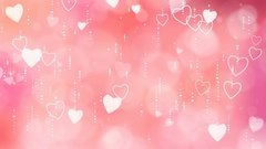 Valentine's Hearts Background. Stock Footage