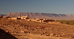Tissergat Village, Kasbah Ziwana, Morocco Stock Footage