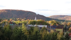 Saint-Sauveur Quebec Fall Hyperlapse Stock Footage