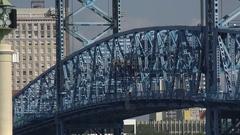 Jacksonville Main Street Bridge, Florida, USA, zoom out Stock Footage