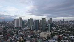 Makati City Day to Night Timelapse, Manila, Philippines. Stock Footage